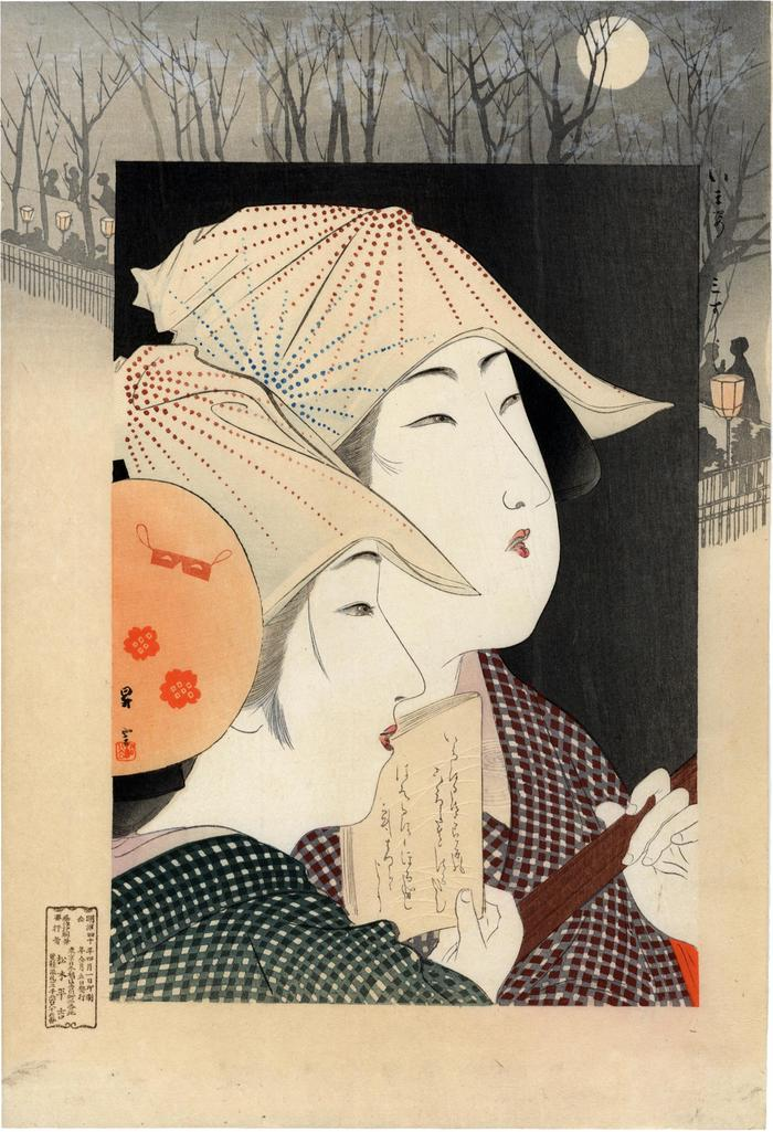 <i>Three-stringed Shamisen</i> (三すじ) from the series Modern Fashions (<i>Imasugata</i> - いま姿)